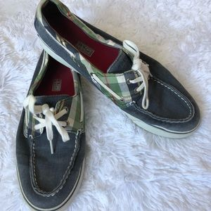 Sperry Topsider boat shoes Blue/plaid